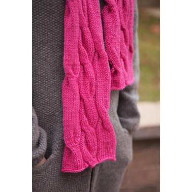 Rolling Cables Scarf - Lite