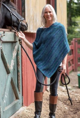 Bosquet Poncho in Berroco Millefiori Light - 393-5 - Downloadable PDF