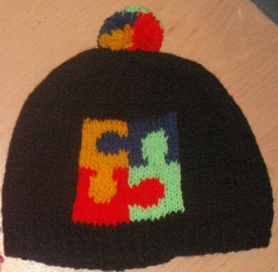 Puzzle Logo Beanie for Autism Awareness