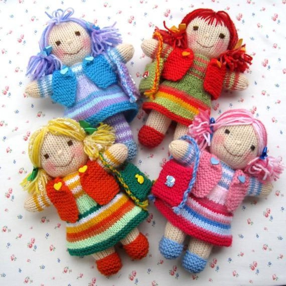 Doll knitting patterns loveknitting rainbow rascals knitted dolls bankloansurffo Image collections