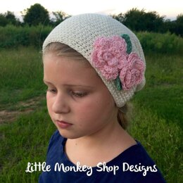 Bella's Slouch Hat with Flower