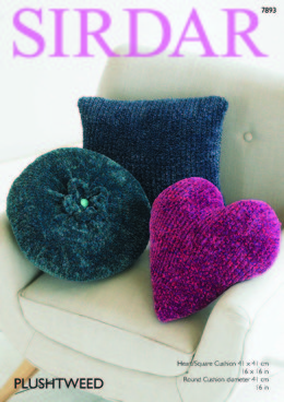 Cushions in Sirdar Plushtweed - 7893 - Leaflet