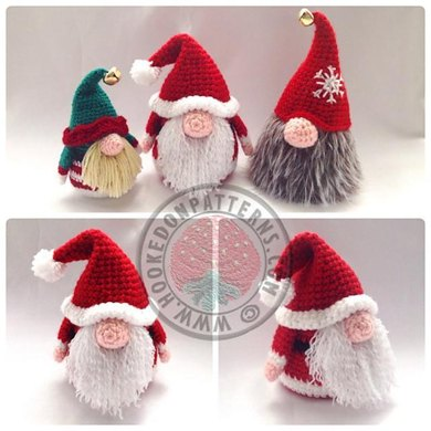 Santa Gonk Christmas Decorations Crochet Pattern By Hooked On Patterns