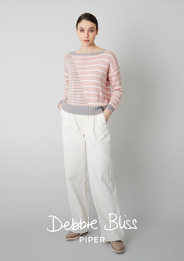 Margaux Sweater in Debbie Bliss Piper - DB298 - Downloadable PDF