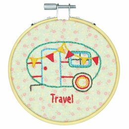 Dimensions Embroidery Kit with Hoop - Camper (Crewel)