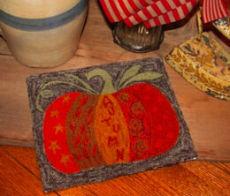 The Old Tattered Flag Crazy Doodle Pumpkin Punch Needle Pattern with Printed Weaver's Cloth - OTF89 - Leaflet