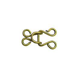 Brass Round Hook & Eye