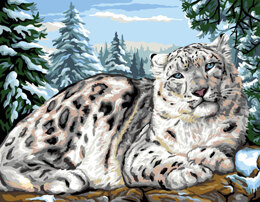 Royal Paris Snow Leopard Tapestry Canvas -