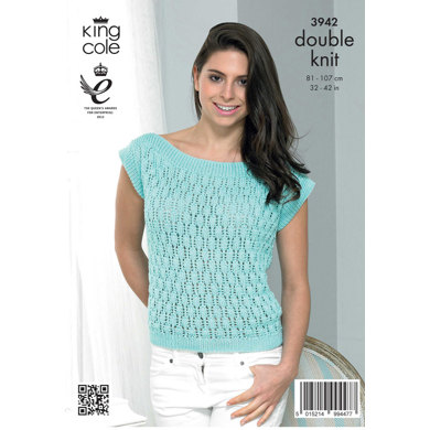 Ladies' Summer Tops in King Cole Smooth DK - 3942