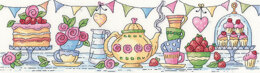 Heritage Afternoon Tea Cross Stitch Kit - 37.5cm x 10cm