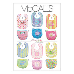 McCall's Infants' Bibs and Diaper Covers M6108 - Paper Pattern Size All Sizes In One Envelope