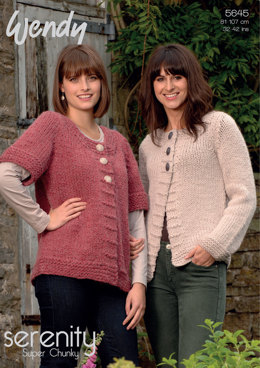 Long Jackets in Wendy Serenity Super Chunky - 5645