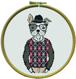 Margot Hector - The Dog Cross Stitch Kit - Multi