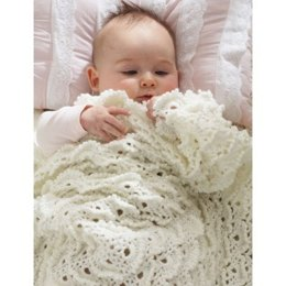 Fluffy Meringue Stitch Blanket in Patons Beehive Baby Fingering