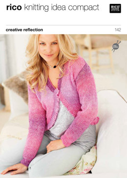Ladies' Cardigans in Rico Creative Reflection Print - 142