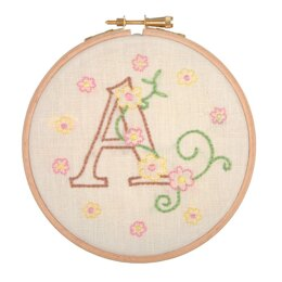 Anchor Baby Letters Embroidery Kit - 12cm