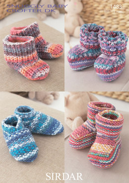 Bootees, Shoes and Boots in Sirdar Snuggly Baby Crofter DK - 1483 - Downloadable PDF