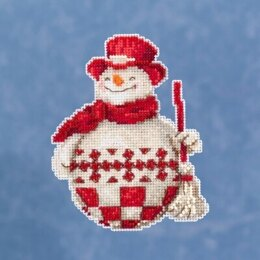 Mill Hill JimShore Pint Size Christmas - Nordic Snowman - 4inx5in
