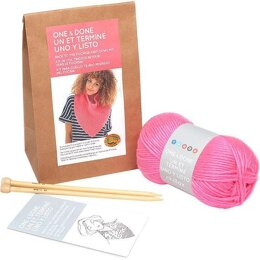 Lion Brand BACK TO THE FUCHSIA KNIT COWL - Kit