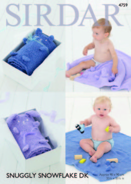 Bear and Rabbit Blankets in Sirdar Snuggly Snowflake DK - 4759 - Leaflet