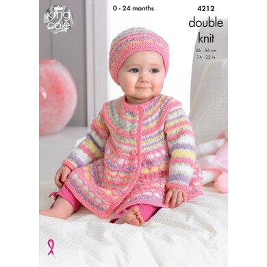 Jackets, Hat and Blanket in King Cole DK - 4212 - Downloadable PDF