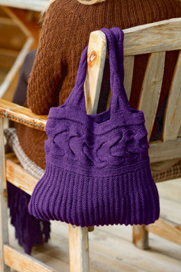 Coat and Tote with Cable Pattern in Schachenmayr Universa - S6902AB - Downloadable PDF