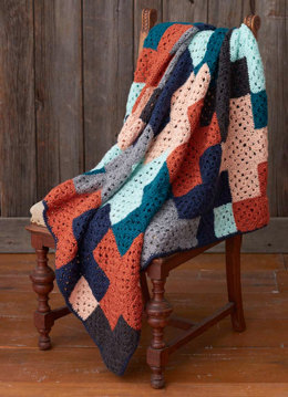 Life's a Plus Afghan in Caron Simply Soft, Simply Soft Heathers and Simply Soft Collection - Downloadable PDF