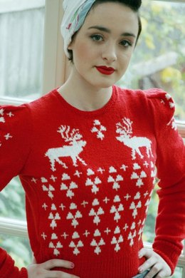 Perfect Christmas Jumper in Susan Crawford Excelana 4 Ply