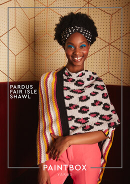 Pardus Fair Isle Shawl in Paintbox Yarns - Downloadable PDF