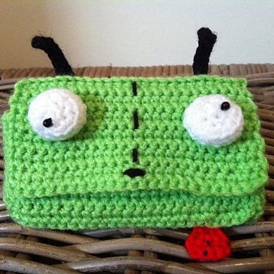 Gir From Invader Zim Phone Cover Cozy Or Wallet Purse Crochet