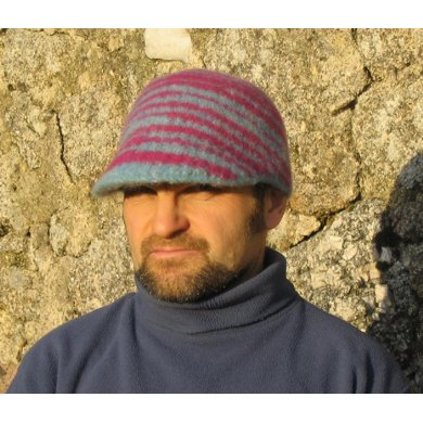 Skybluepink peaked felted cap Knitting pattern by Jennie Howes Knitting Pat...