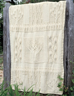 Nature in Natural Afghan in Lion Brand Wool-Ease Chunky - 1276A