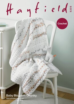 Blanket in Hayfield Baby Blossom Chunky - 5235 - Downloadable PDF