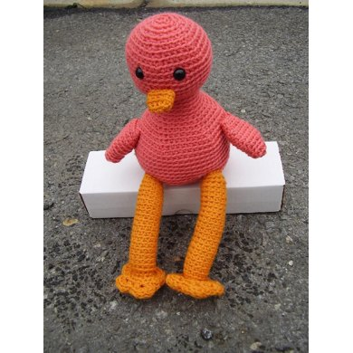 Amigurumi Gordon the Pink Flamingo