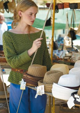 Sicily Sweater in Rowan Cotton Glace - Downloadable PDF