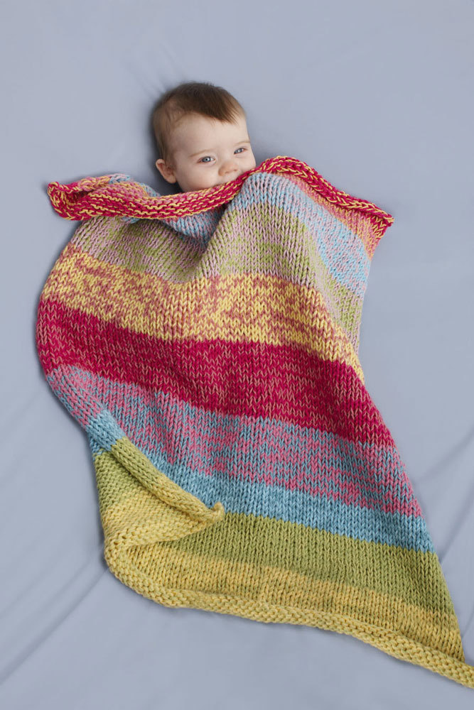 Sunshine Day Baby Throw In Lion Brand Cotton Ease 90078ad