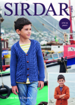 Cardigan in Sirdar No.1 Chunky  - 2493 - Downloadable PDF