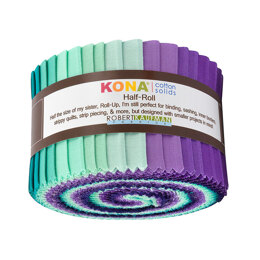 Robert Kaufman Kona Cotton Solids 2.5in Strip Roll - HR-155-24