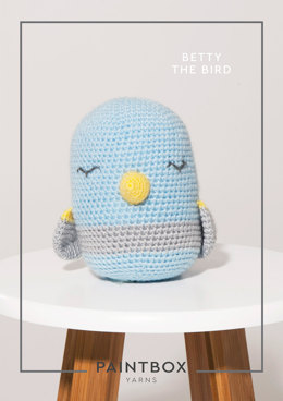 """Betty the Bird"" - Amigurumi Crochet Pattern For Toys in Paintbox Yarns Simply DK - DK-CRO-TOY-002"