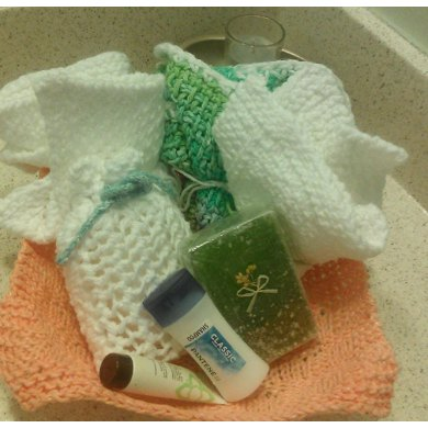 Spa Cloth and Soap Bag Set with Photo Tutorials
