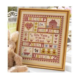 Historical Sampler Company Sugar and Spice Birth Sampler Cross Stitch Kit - 16ct Aida