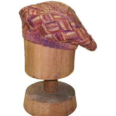 Blustery Day Beret Entrelac Hat Pattern