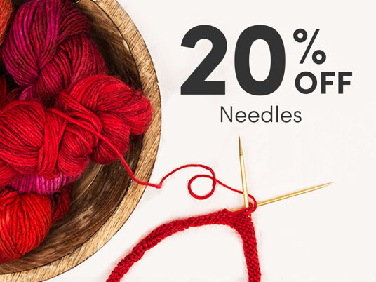 20 percent off Needles! Today only!