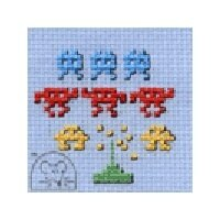 Mouseloft Stitchlets - Space Invaders Cross Stitch Kit