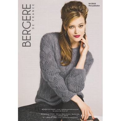 Round Neck Sweater in Bergere de France Pure Douceur - 33955