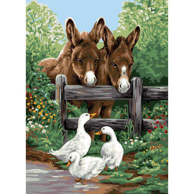 Royal Paris Donkeys and Geese Tapestry Canvas