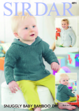 Sweater & Jacket in Sirdar Snuggly Baby Bamboo DK - 4891 - Downloadable PDF