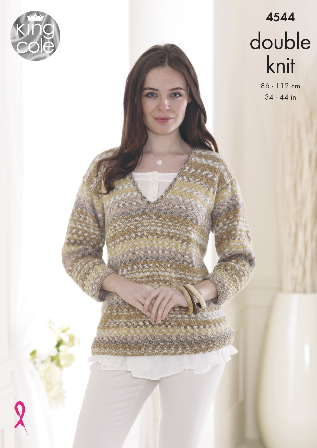 Stylecraft 8476 DK Knitting Pattern Ladies Jumper