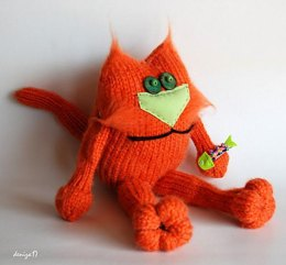 Fat Cat (knitted round)