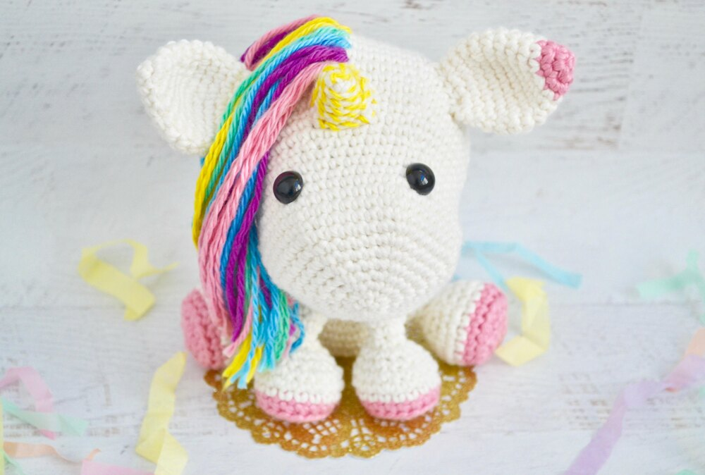 Free Crochet Unicorn Pattern - Red Ted Art - Make crafting with ... | 674x1000